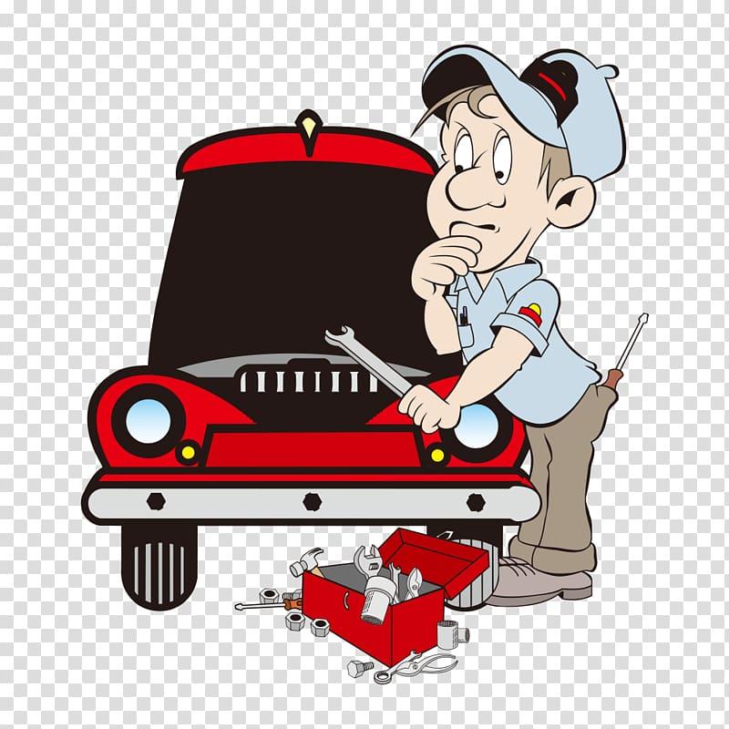 Free clipart auto mechanic. Cartoon automobile repair shop