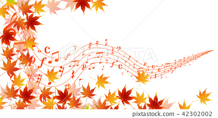 Free clipart autumn leaves with musical notes banner download Autumn leaves autumn background - Stock Illustration [42302002] - PIXTA banner download