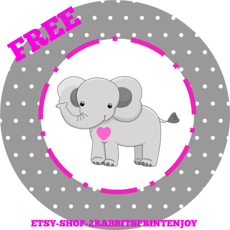 Free clipart baby pink elephants for cupcake toppers library Elephant Baby Shower Inspiration Board - My Practical Baby Shower ... library