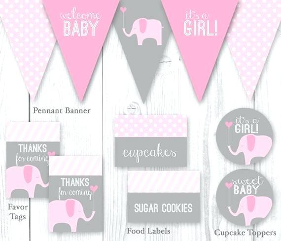 Free clipart baby pink elephants for cupcake toppers jpg black and white download pink elephant baby shower decorations jpg black and white download