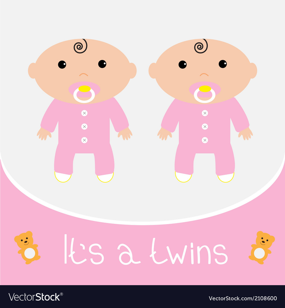 Free clipart baby shower that fits on fb clip free download Baby shower card Its a twins girls clip free download