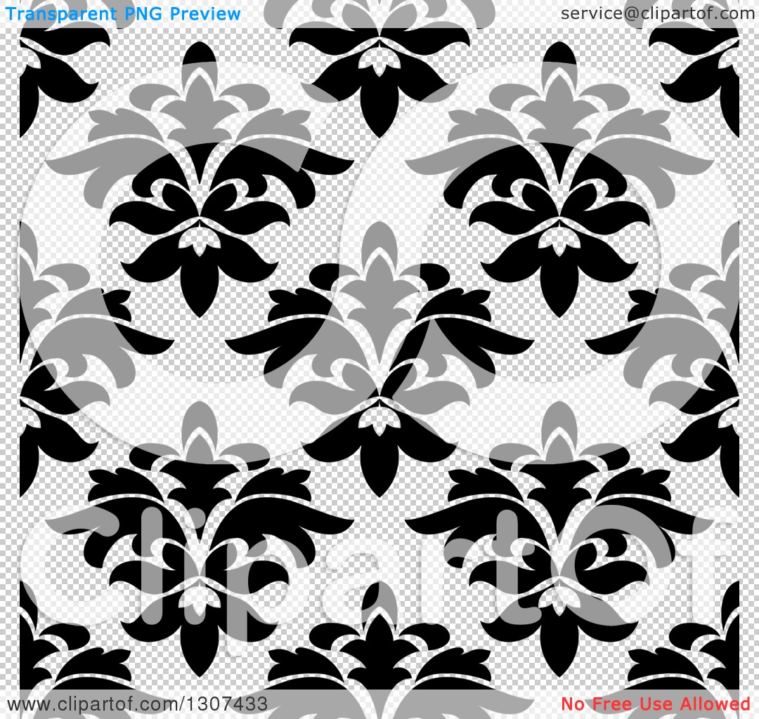 Free clipart background patterns png freeuse library Clipart of a Black and White Vintage Seamless Floral Background ... png freeuse library