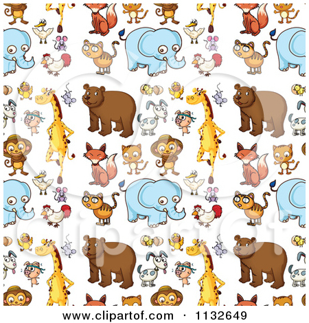 Free clipart background patterns clip transparent stock Cartoon Of A Seamless Cute Animal Background Pattern 1 - Royalty ... clip transparent stock