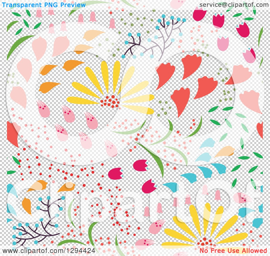 Free clipart background patterns image royalty free stock Clipart of a Seamless Colorful Spring Flower Pattern Background ... image royalty free stock