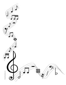 Free clipart background patterns music notes clipart black and white stock Music+Notes+Clip+Art+Borders | Music Note Borders Free Clip Art ... clipart black and white stock