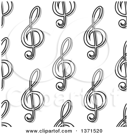 Free clipart background patterns music notes clipart freeuse library Clipart of a Seamless Background Pattern of Black and White Music ... clipart freeuse library