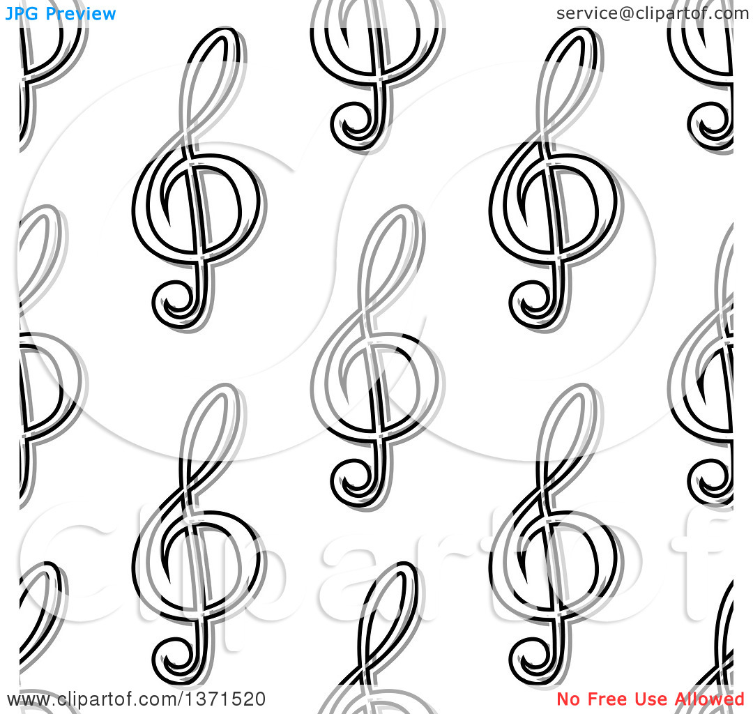 Free clipart background patterns music notes clipart free library Clipart of a Seamless Background Pattern of Black and White Music ... clipart free library
