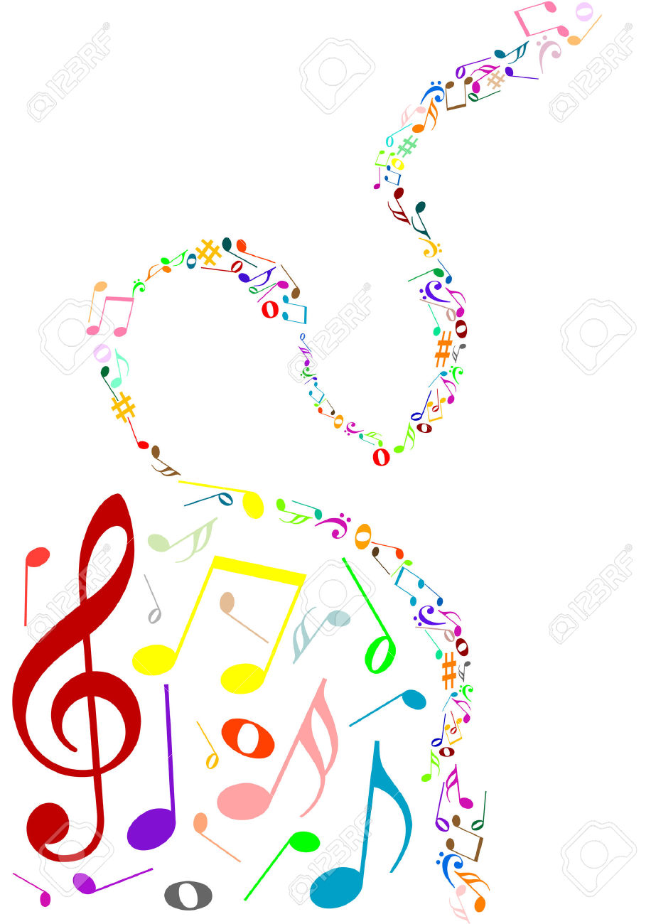 Free clipart background patterns music notes banner free library Musical Background With Colored Music Notes Royalty Free Cliparts ... banner free library