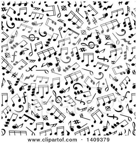 Free clipart background patterns music notes vector library Clipart of a Seamless Background Pattern of Black Music Notes ... vector library