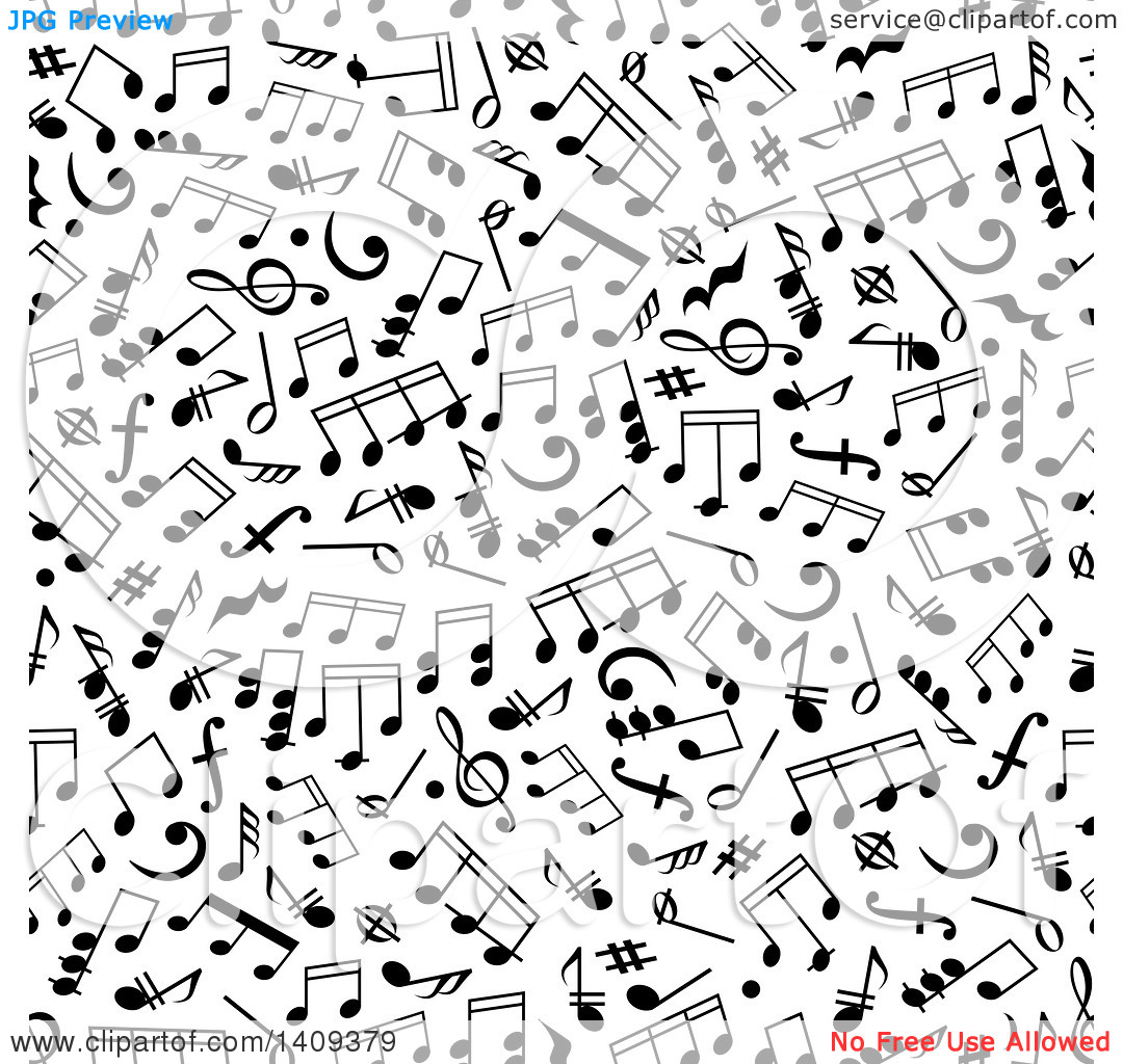 Free clipart background patterns music notes clip freeuse stock Clipart of a Seamless Background Pattern of Black Music Notes ... clip freeuse stock