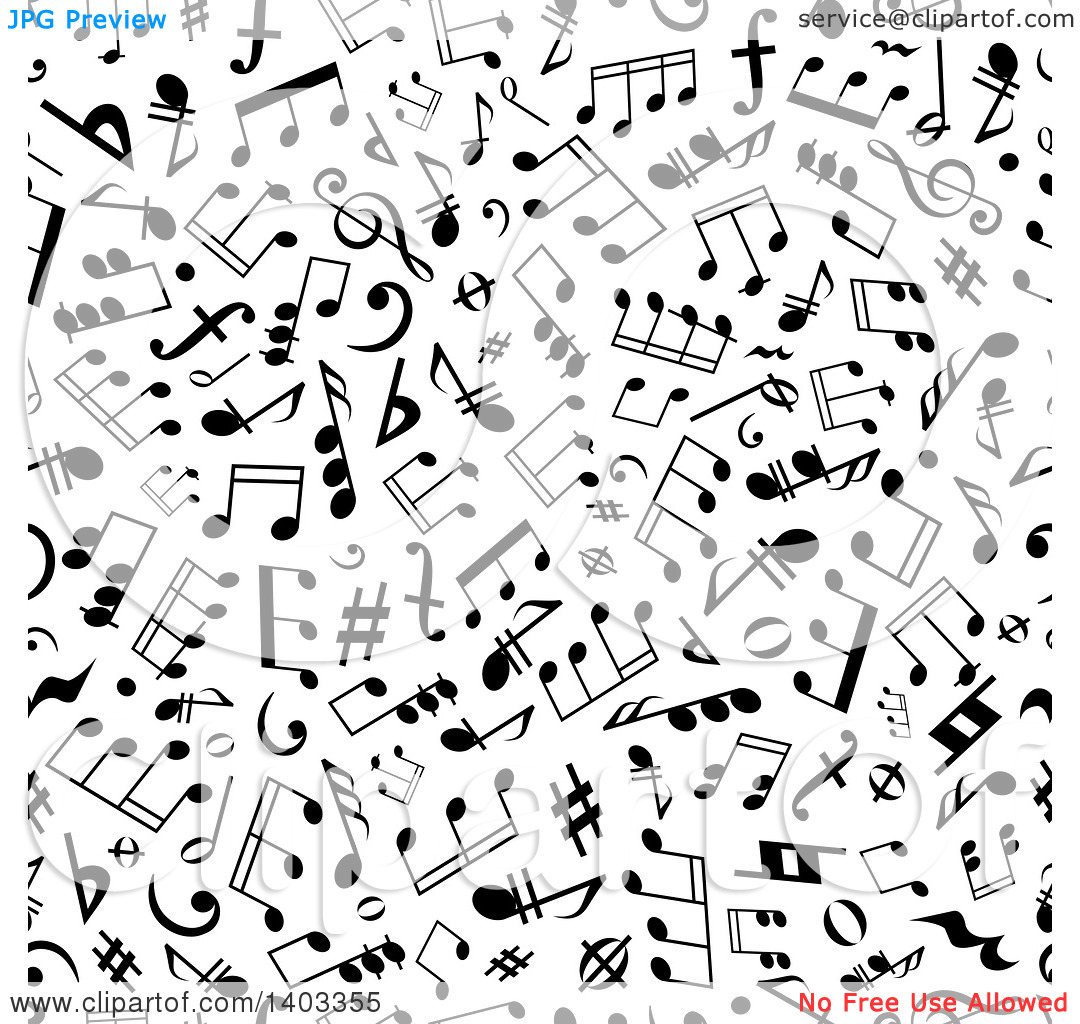 Free clipart background patterns music notes image library library Clipart of a Seamless Background Pattern of Black Music Notes ... image library library
