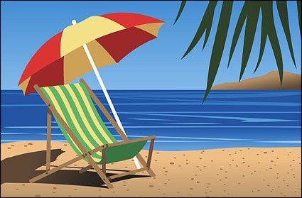 Free clipart beach scenes svg Beach Scene Clip Art   Beach chair Vector landscape - Free vector ... svg