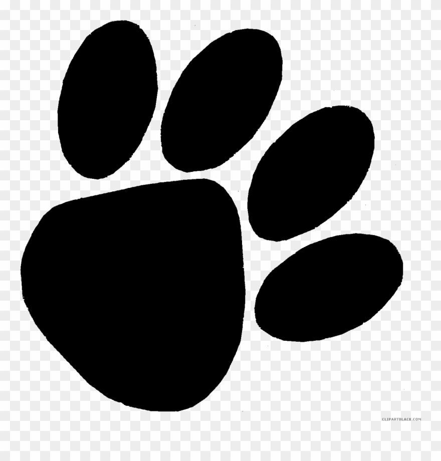 Free clipart bear paw print black and white library Bear Paw Print Animal Free Black White Clipart Images - Bear Paw ... black and white library