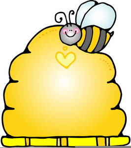 Free clipart bee hive. Images at clker com