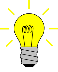 Free clipart big lightbulb in small lamp vector free download 909 light bulb clip art image free | Public domain vectors vector free download