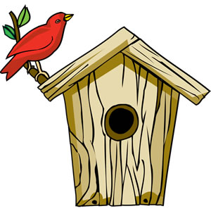 Free clipart bird houses image Birdhouse Clipart - ClipartPost image