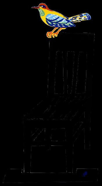 Free clipart bird sitting on empty chair clip art David Gerstein Empty Chair Birds Sculpture clip art