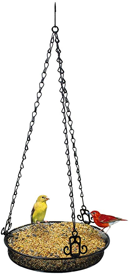 Free clipart bird sitting on empty feeder svg freeuse library Sorbus Bird Feeder Hanging Tray, Seed Tray For Bird Feeders, Great for  Attracting Birds Outdoors, Backyard, Garden (Black) svg freeuse library