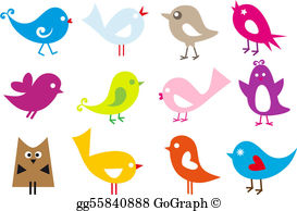 Free clipart birds banner black and white library Birds Clip Art - Royalty Free - GoGraph banner black and white library