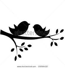 Free clipart birds on a branch svg black and white library birds on a branch silhouette clip art free - Google Search ... svg black and white library