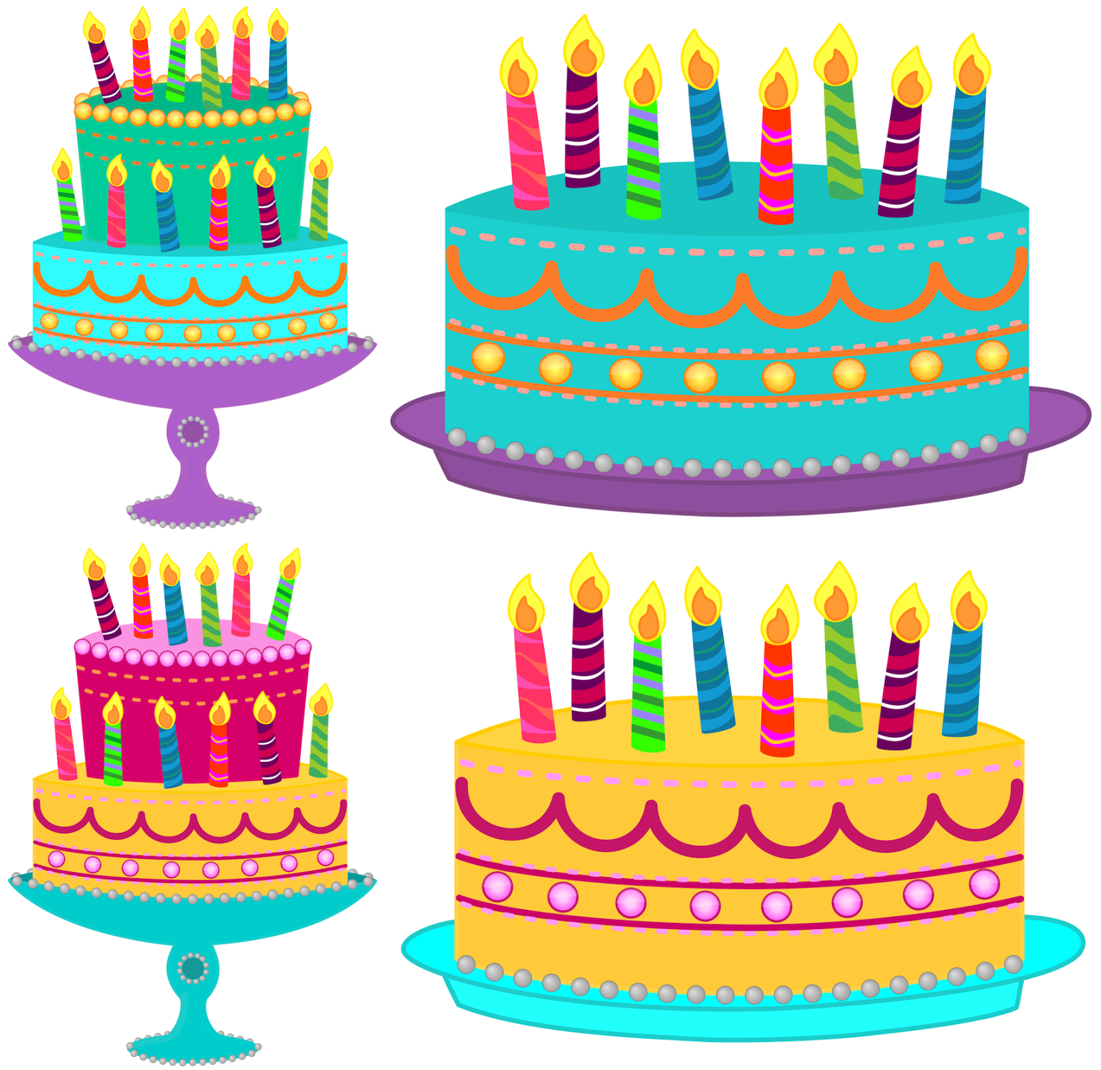 Free clipart birthday cake with candles jpg royalty free download July Birthday Cake Clipart Blue cake with no candles | Birthday clip ... jpg royalty free download