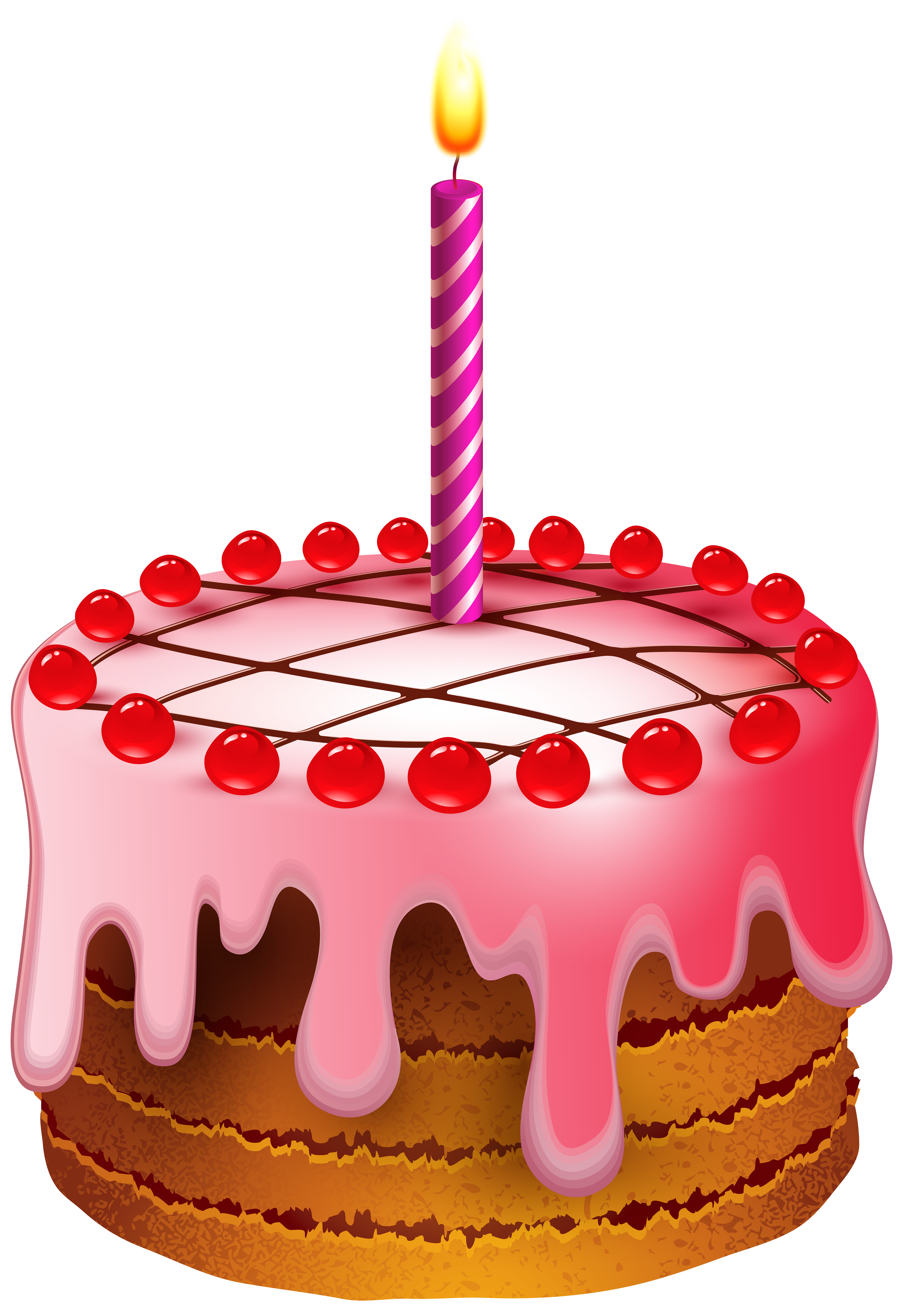 Free clipart birthday cake with candles png royalty free Birthday Cake with Candle Transparent Clip Art Image | Gallery ... png royalty free
