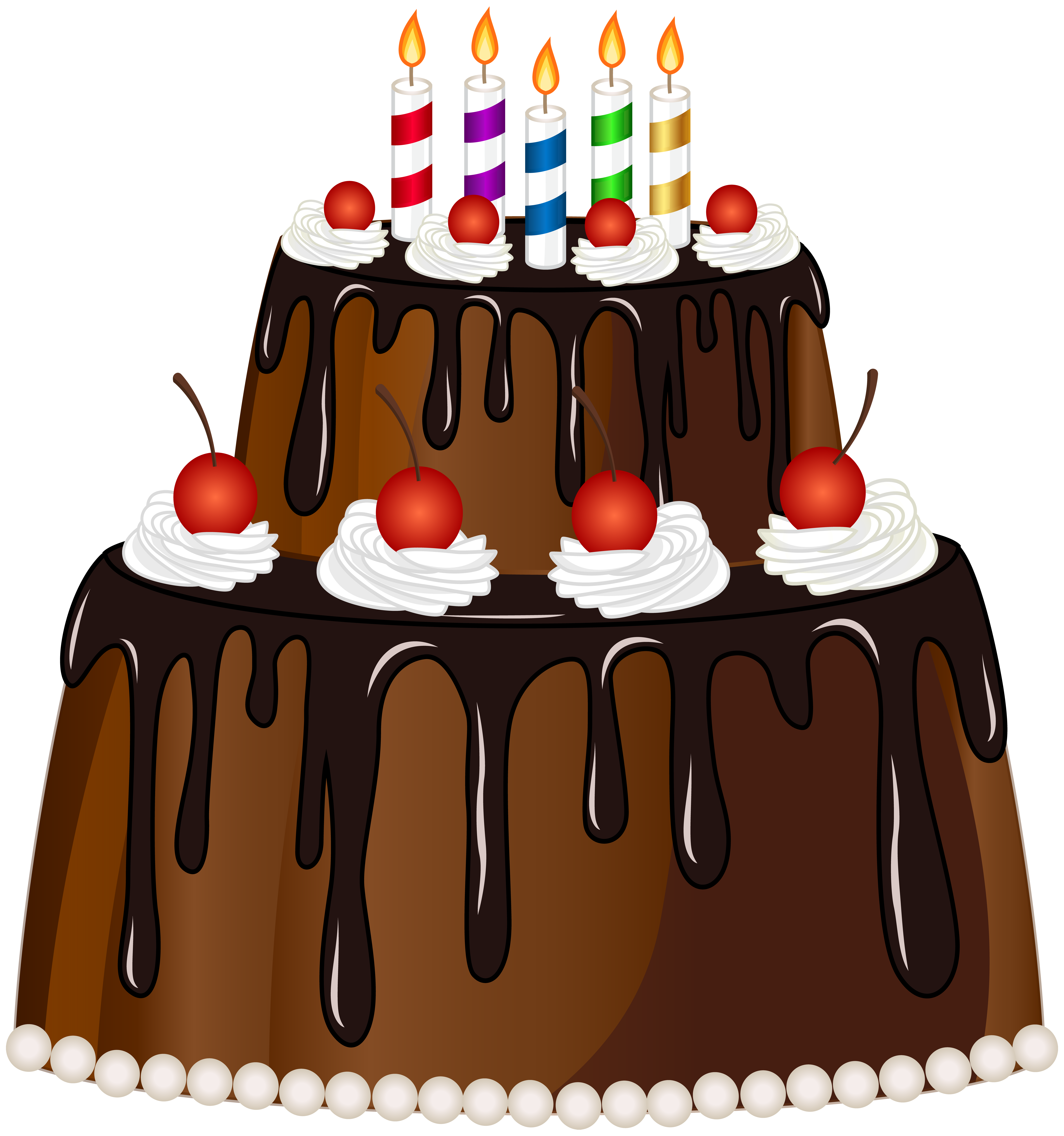 Free clipart birthday cake with candles vector transparent stock Birthday Cake with Candles PNG Clip Art Image | Gallery ... vector transparent stock