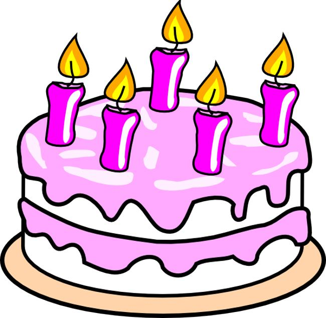 Free cake cliparts. Happy birthday clipart download