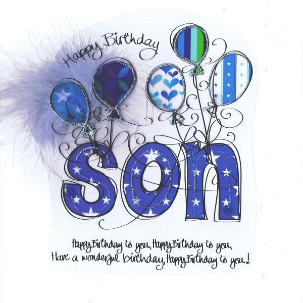 Free clipart birthday to my son graphic black and white download Happy Birthday Son Clipart Group with 81+ items graphic black and white download