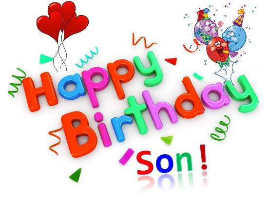 Free clipart birthday to my son clipart black and white stock Birthday Wish For Your Dear Son. Free For Son & Daughter eCards ... clipart black and white stock