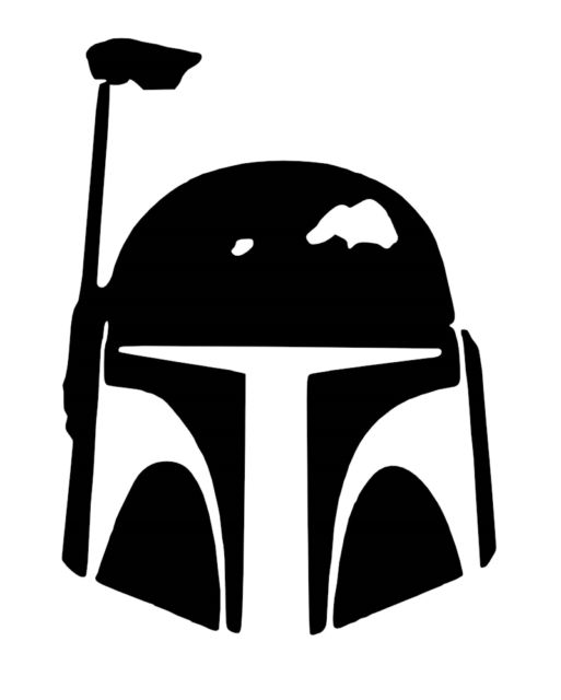 Free clipart black and white bounty hunter vector freeuse library Star Wars Bounty Hunter Vinyl Sticker\\decal vector freeuse library