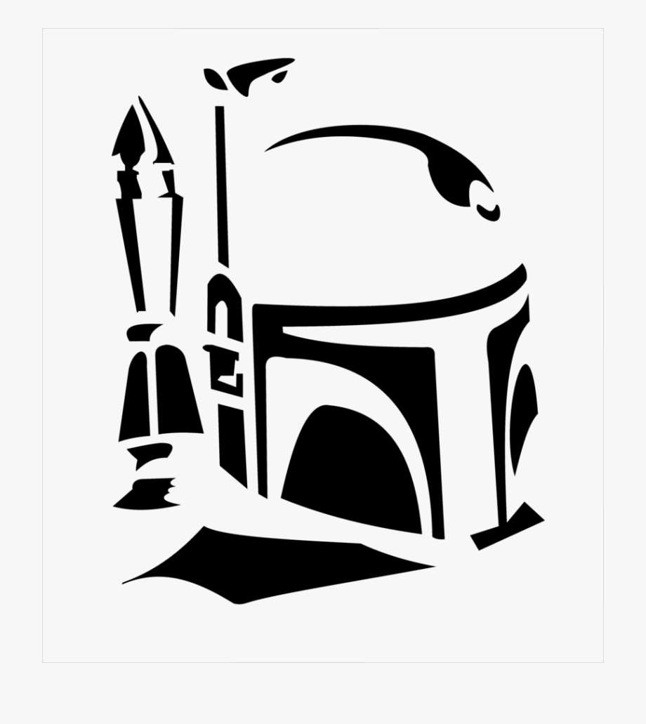 Free clipart black and white bounty hunter clipart download Boba Fett Svg Free - Boba Fett Black And White, Cliparts & Cartoons ... clipart download