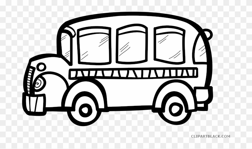 School bus clipart black and white no background clip art freeuse library Transportation Free Black White - Transparent Background Bus Clipart ... clip art freeuse library