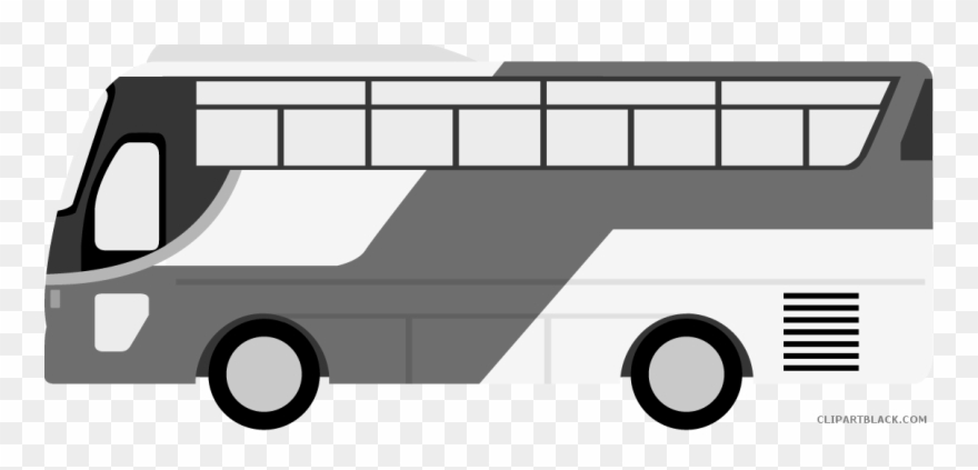 Free clipart black and white data transit clip black and white download Bus Transportation Free Black White Clipart Images - バス 車 ... clip black and white download