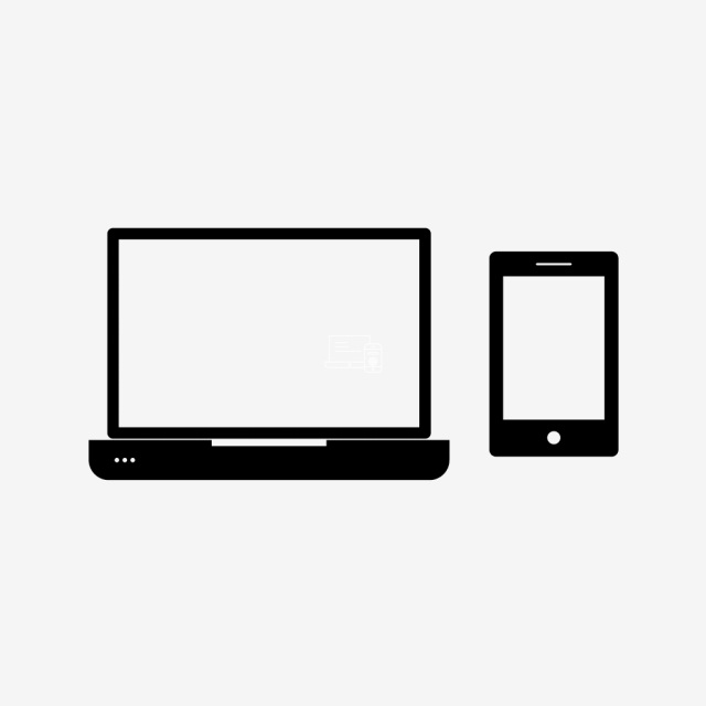 Free clipart black and white electronic cog. Vector devices icon setting