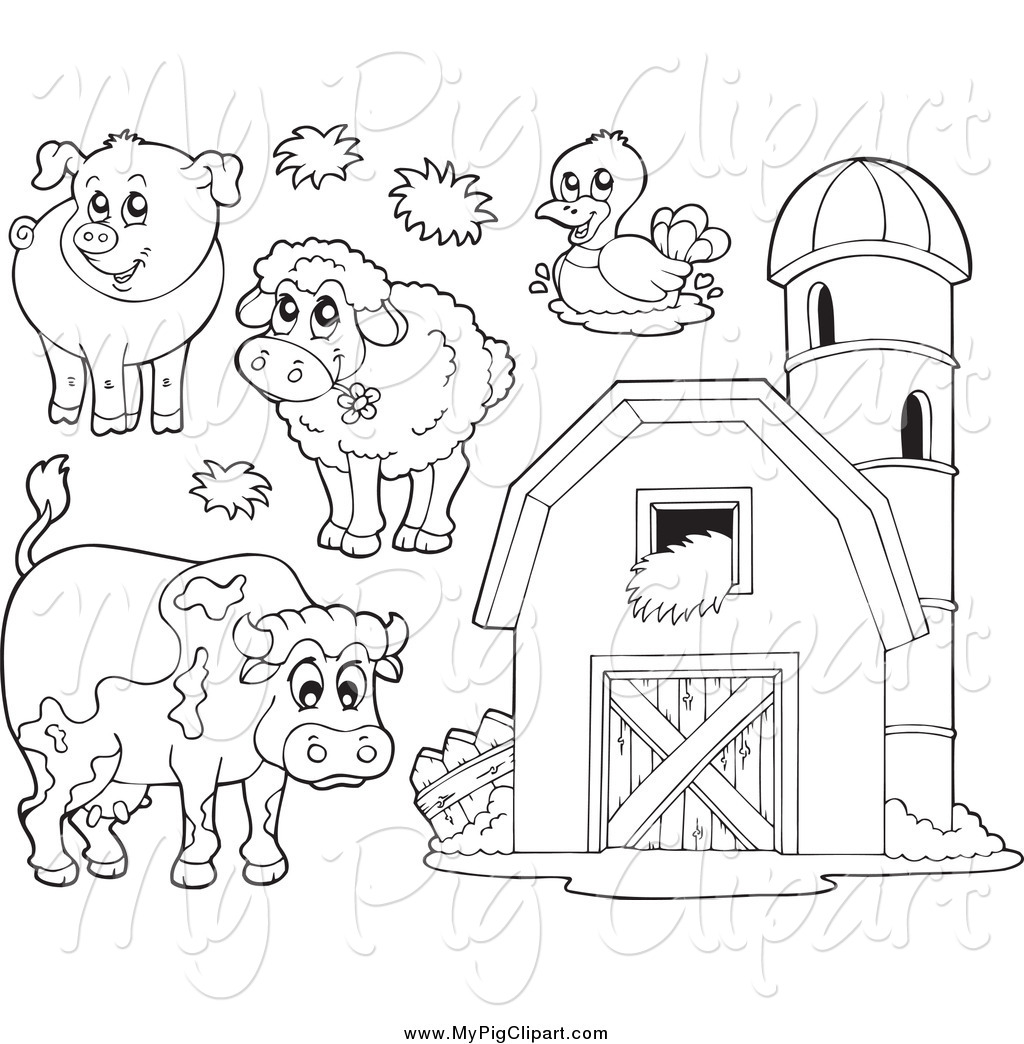 Free black and white farm animal clipart clipart library 95+ Farm Animal Clipart Black And White | ClipartLook clipart library