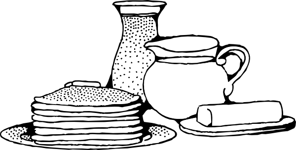 Free clipart black and white outline breakfast jpg free download Free Breakfast Cliparts Borders, Download Free Clip Art, Free Clip ... jpg free download