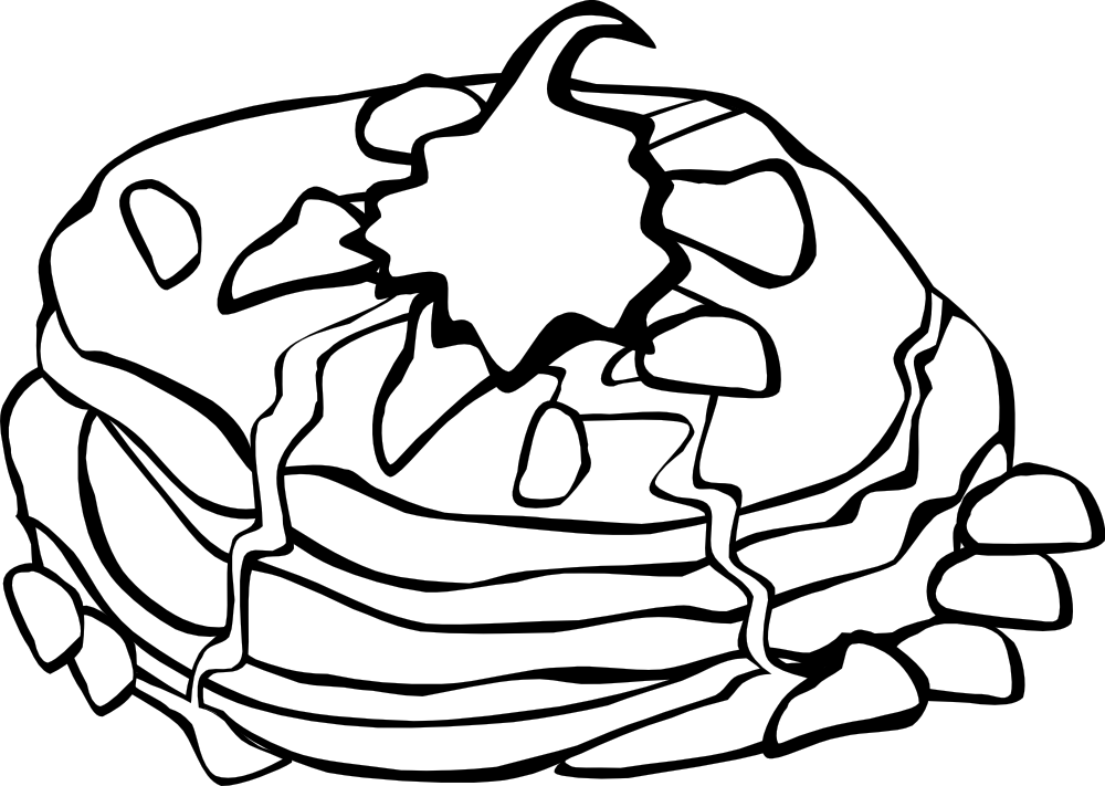 Free clipart black and white outline breakfast graphic transparent download Breakfast Clipart Black And White | Free download best Breakfast ... graphic transparent download