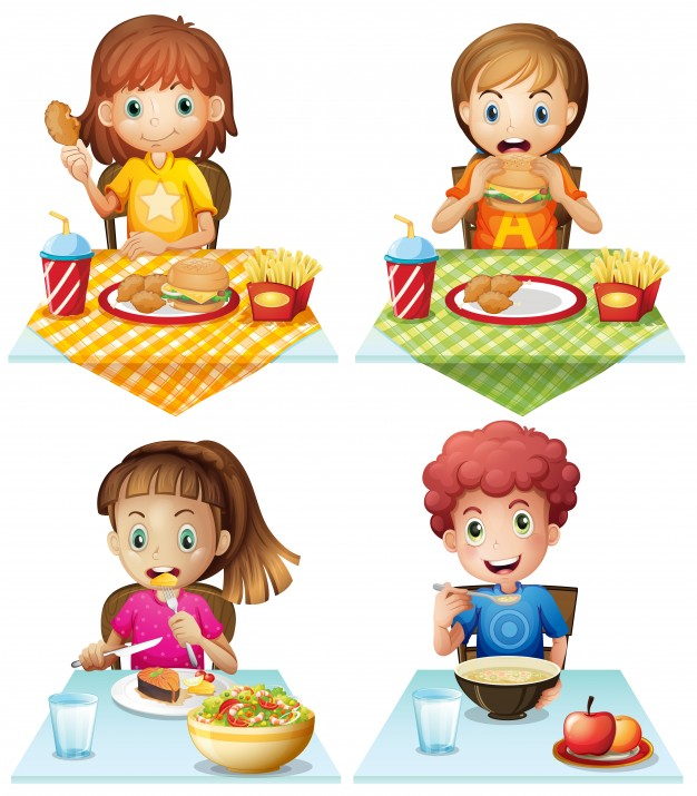 Free clipart black and white outline kid eating supper clip art free stock Children Eating Vectors, Photos and PSD files | Free Download clip art free stock