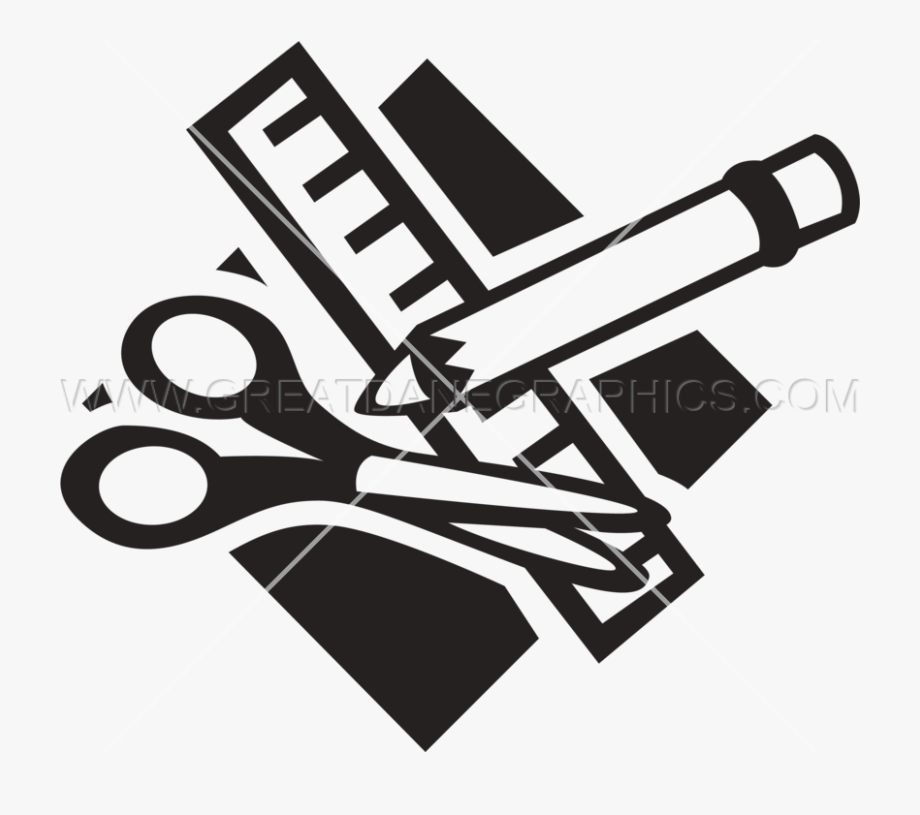 Free clipart black and white play engineering jpg free download Clip Art Free Library School Supplies Clipart Black - School ... jpg free download