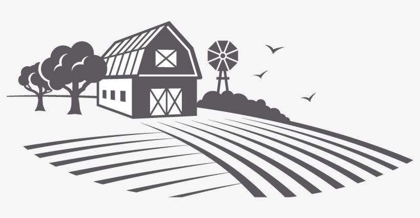 Free clipart black and white play farming. Farm image house png