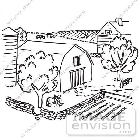 Ranch clipart black and white image freeuse library Free Farm Scene Cliparts, Download Free Clip Art, Free Clip Art on ... image freeuse library