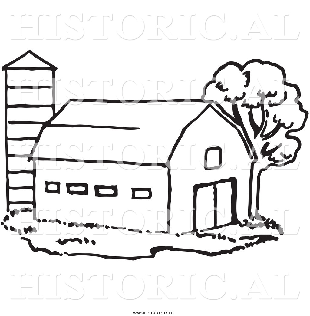 Free clipart black and white play farming. Historical of a barn