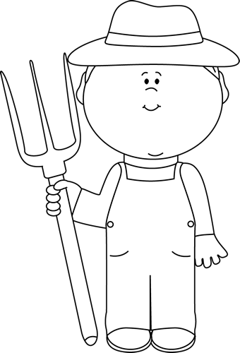 Farmer boy clip art. Free clipart black and white play farming