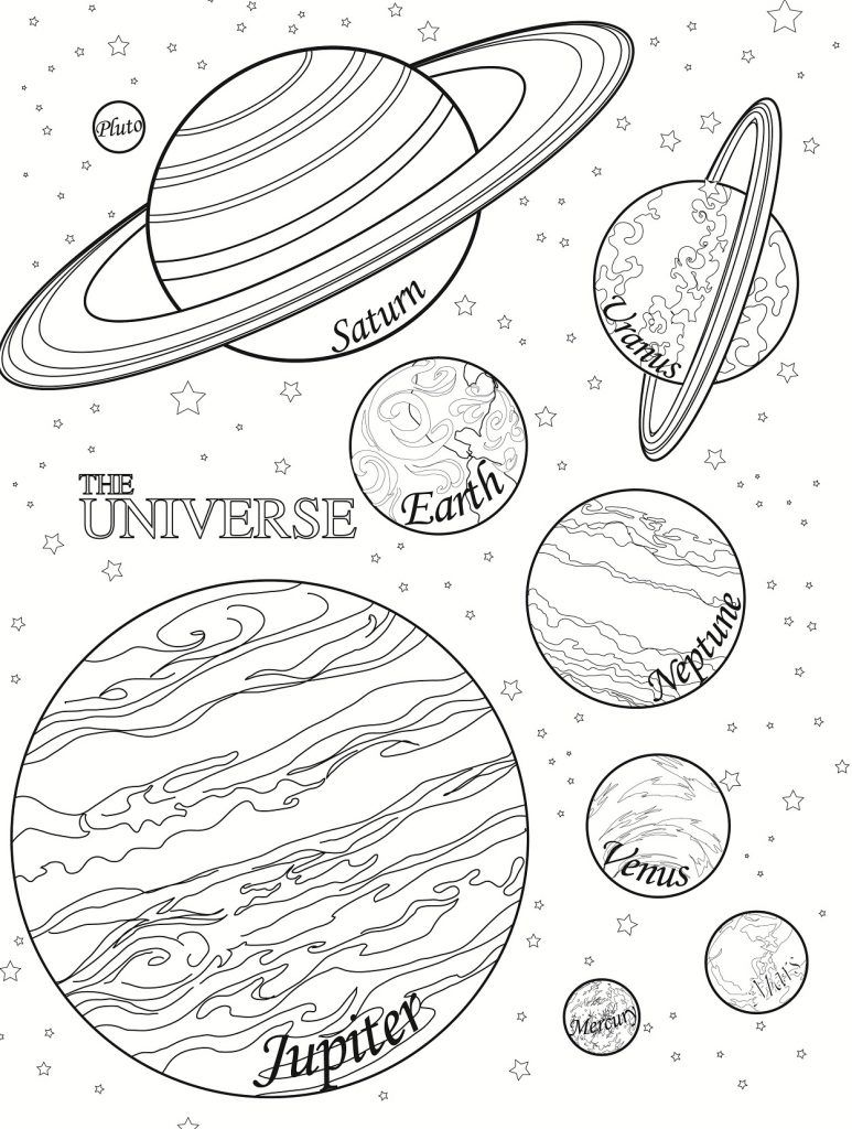 Free clipart black and white play planets image stock Free Printable Planet Coloring Pages For Kids | space | Planet ... image stock