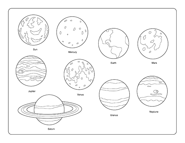 Free clipart black and white play planets svg stock Free Solar System Clipart, Download Free Clip Art, Free Clip Art on ... svg stock