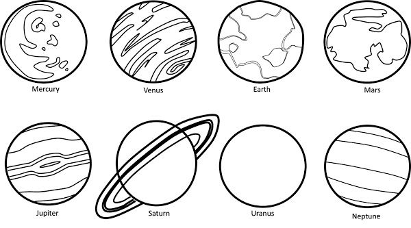 Free clipart black and white stars and planets. Cliparts solar system