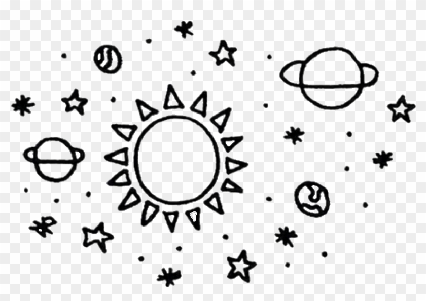 Free clipart black and white stars and planets. Png aesthetic space freetoedit