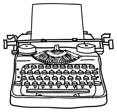 Free clipart black and white typewriter with paper clip art free library A black and white ink line drawing of a typewriter. An easy to edit ... clip art free library