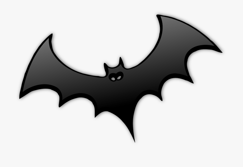 Free clipart black and white wooded areas graphic free stock Bat Black Dracula Wings Spread Hallow - Flying Bats Png #862530 ... graphic free stock
